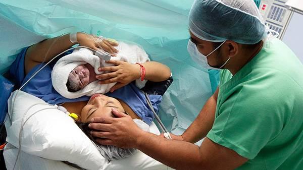 parto por cesárea