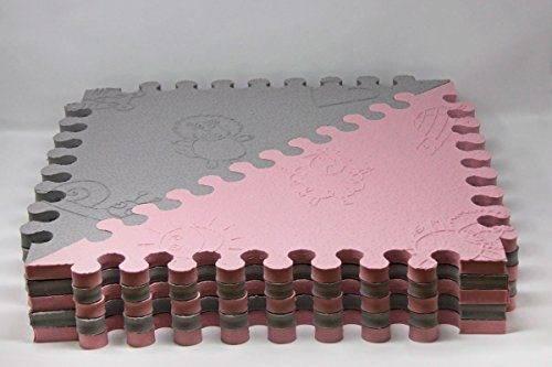 216173109a4 LuBabymats - Alfombra puzzle infantil para bebés de Foam (EVA)
