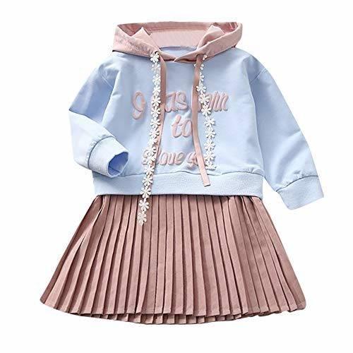 a7f57bae6 K-youth Ropa Niña, Letra Vestido De Bebé Niña Sudadera con Capucha Princesa  Vestido De Niñas para Fiesta Infantil Trajes de Ceremonia Casual 2018