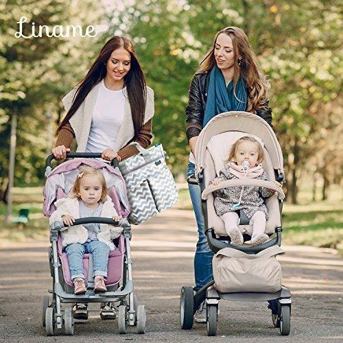 Bolso para pa/ñales de Liname Bolso para pa/ñales elegante de calidad superior con almohadilla de cambio y correa ajustable incluida