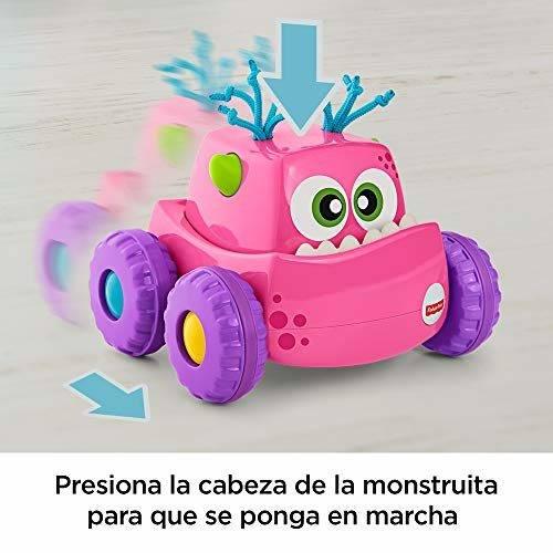 0badcac79 Fisher-Price Coche Monstruito rosa, juguete gateo, bebé +9 meses (Mattel  DRG14)