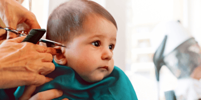 cortar pelo primera vez a un bebé