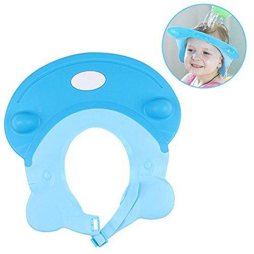 459753125 LeRan Champú Ajustable Sombreros Gorro de baño de silicona suave para  adultos o niños (azul)