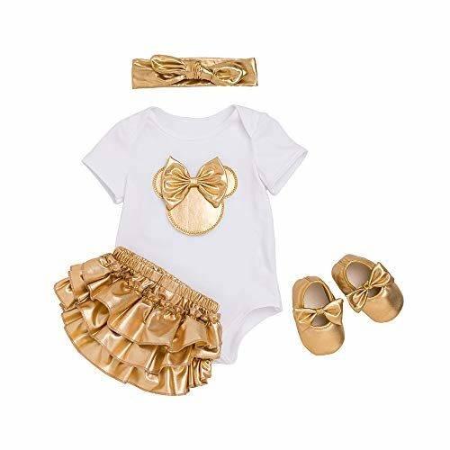 Liyukee Trajes de 1er cumplea/ños para beb/és reci/én Nacidos Traje Infantil Disfraces de Fiesta Camiseta de Manga Corta para beb/és Bowknot Mameluco Falda de tut/ú