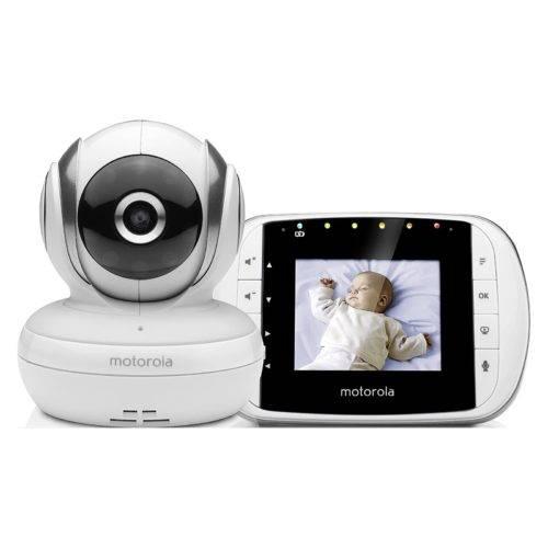 Motorola Baby MBP 33S - Vigilabebés vídeo con pantalla LCD a color de 2.8, modo eco y visión nocturna, color blanco
